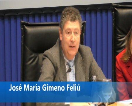 Intervención de José María Gimeno Feliu - Acto de presentación do estudo